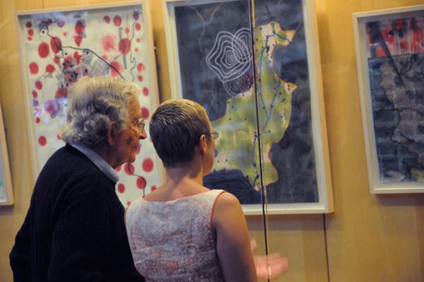 elin o'Hara slavick and Noam Chomsky