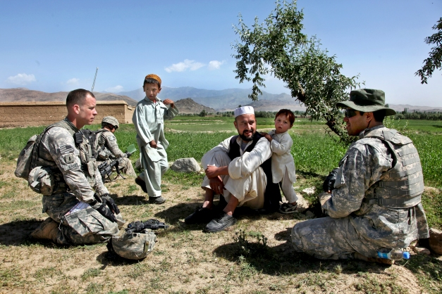 US Army translation in Afghanistan, 2010