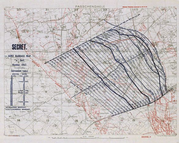 BARRAGE MAP bataille-ypres-passchendaele-carte-secret