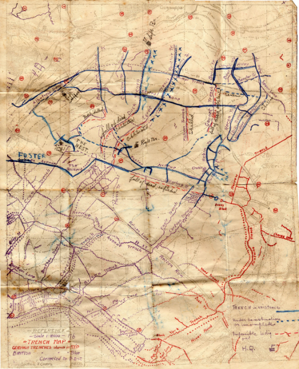 Trench map annotated