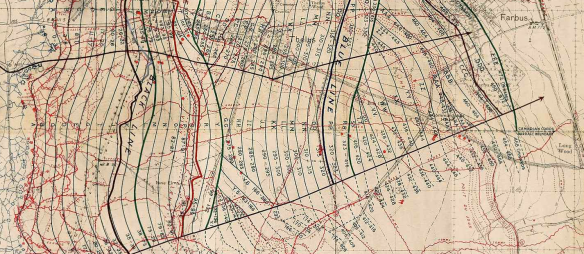 Vimy barrage map 1917 (extract)