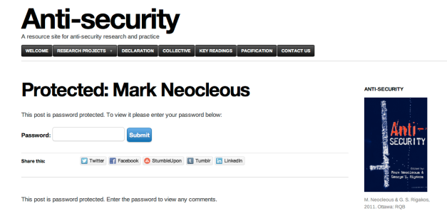 Anti-security Mark Neocleous