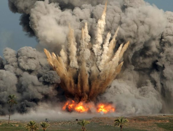 F-16 bombing Beit Hanoun, Gaza, January 2009 (Patrick Baz/AFP/Getty Images)