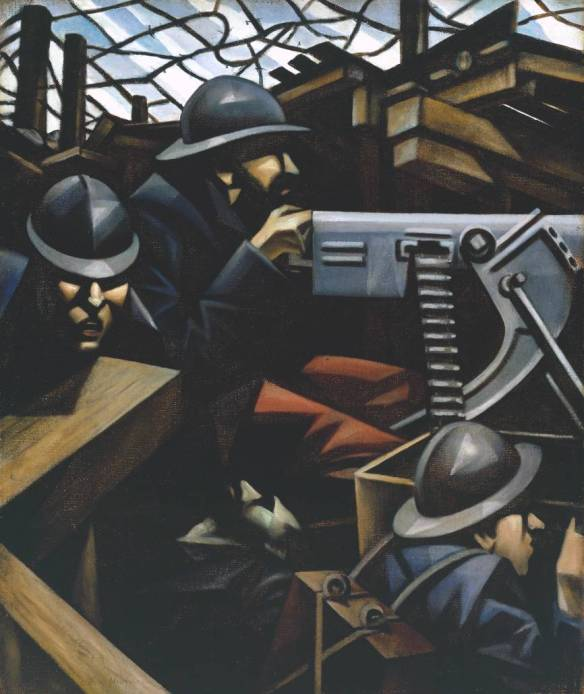 La Mitrailleuse 1915 by Christopher Richard Wynne Nevinson 1889-1946