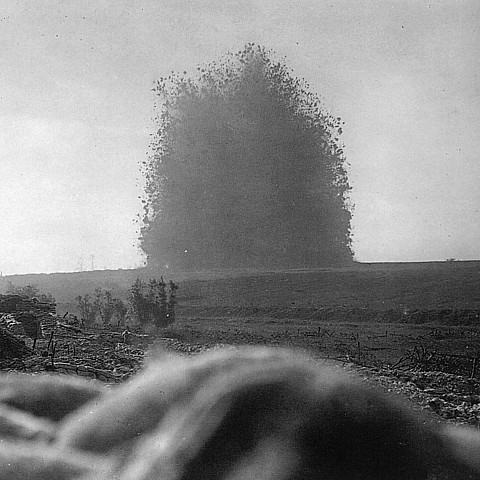 Image result for Battle of Messines ridge explosion