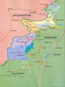 FATA and NWFP map