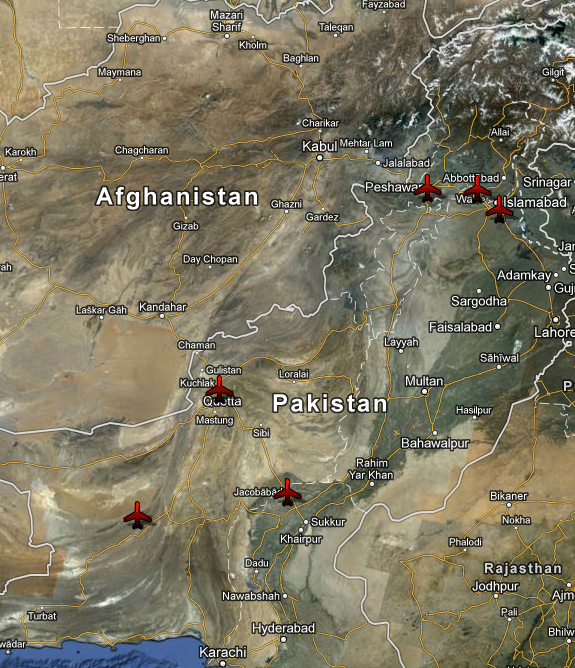 US bases inside Pakistan