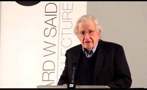 Noam Chomsky delivering the 2013 Edward Said Memorial Lecture