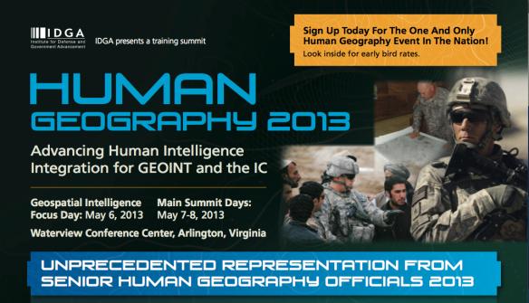 IDGA Human Geography 2013:1