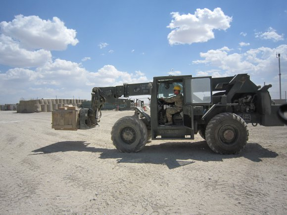 1st Infantry Division's retrograde yard at FOB Sharana, Afghanistan