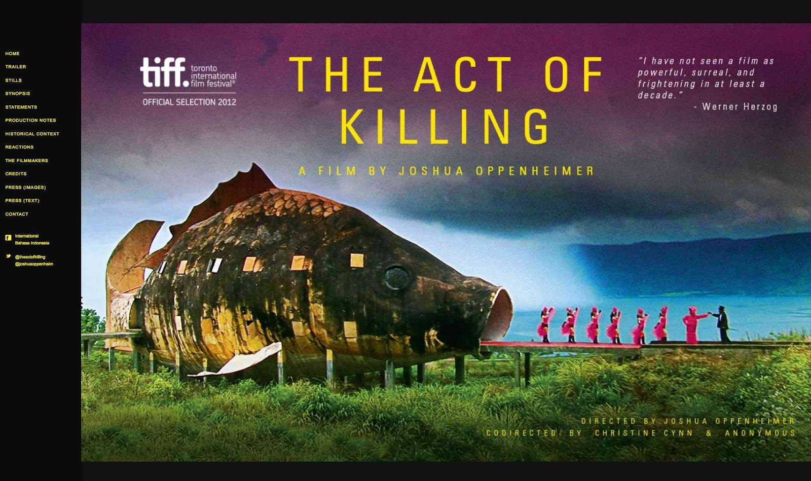 a review of the documentary the act of killing The act of killing, review   image 1 of 3 a song-and-dance number from the documentary 'the act of killing' image 1 of 3 an impossibly kitsch scene from 'the act of killing.