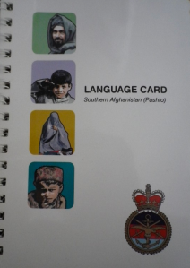 British Army Language Card