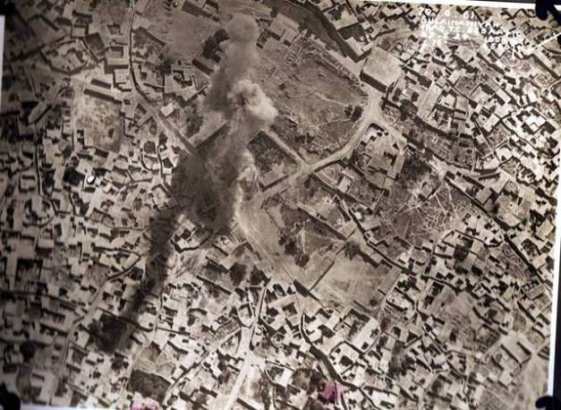 British bomb dropped on Sulaimaniyah, Iraq, 1924