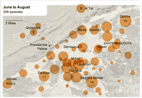 Damascus violence June-August 2012
