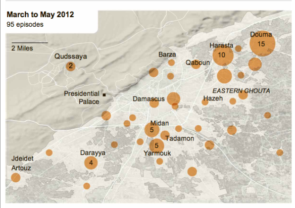 Damascus violence March-May 2012