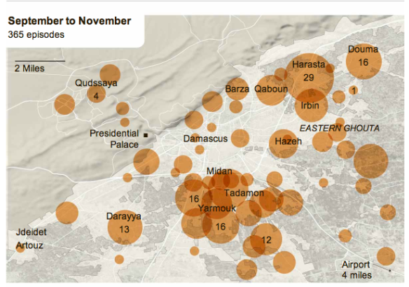 Damascus violence September-November 2012