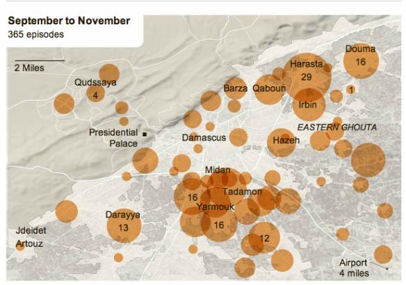Damascus violence September-November 2012