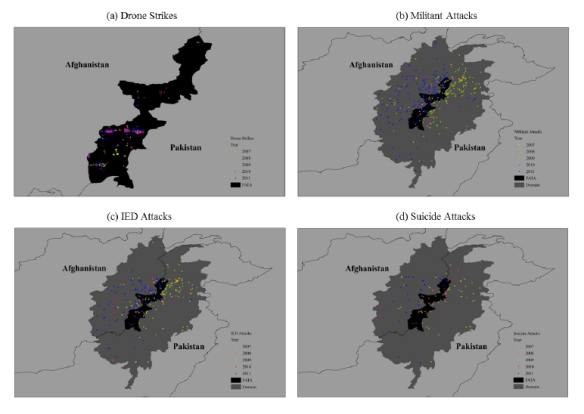 JOHNSTON and SARBAHI Figure 1 Drone strikes and militant activity in FATA