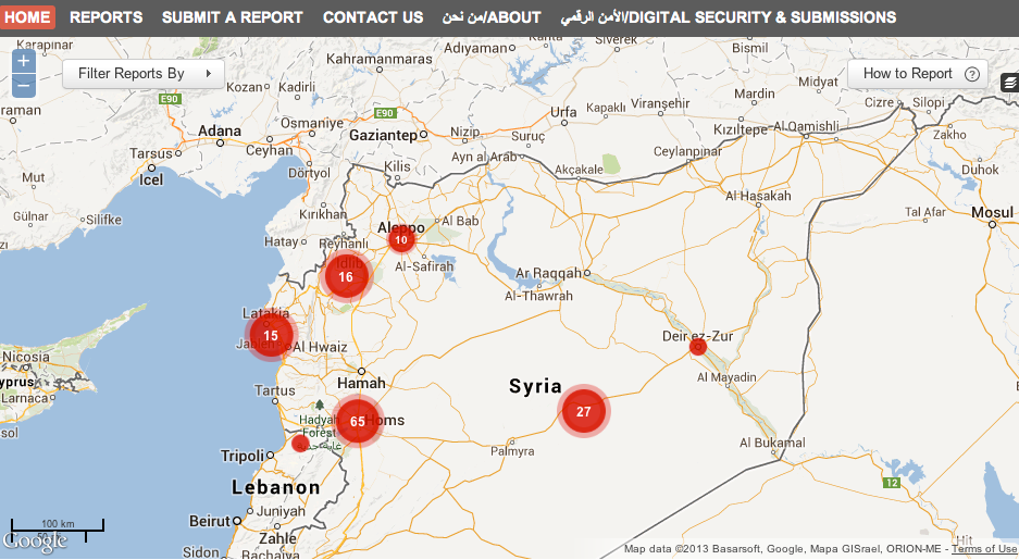 Interactive Maps Geographical Imaginations - Syria interactive map