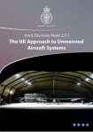 UK Approach to Unmanned Aircraft Systems