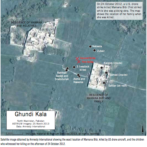 Ghundi Kala drone killing October 2012