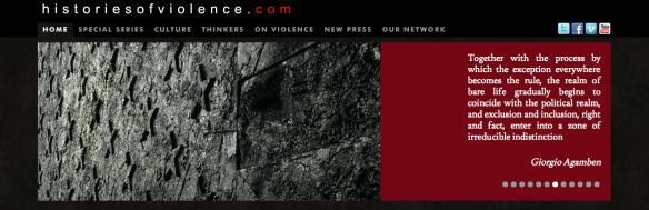 Histories of violence banner