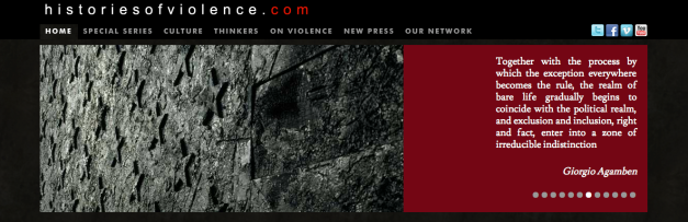 Histories of violence banner