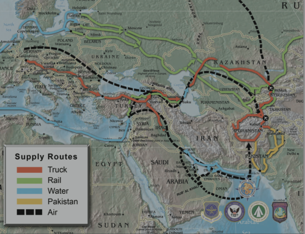 Military supply routes, Afghanistan