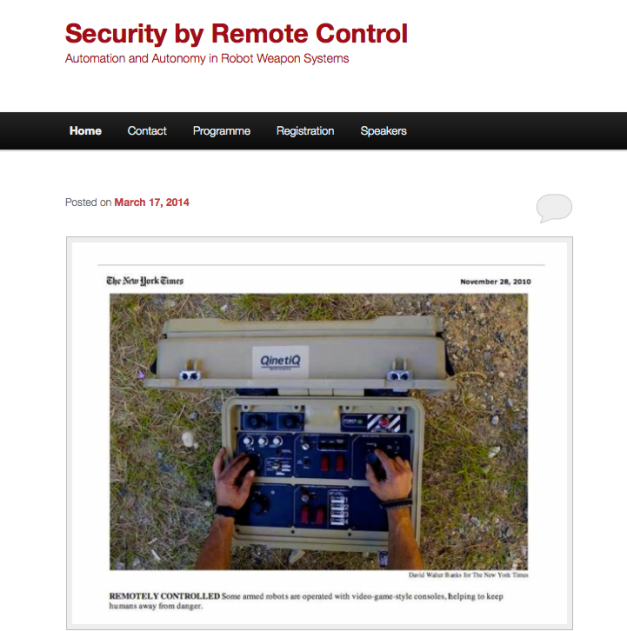 Security by remote control