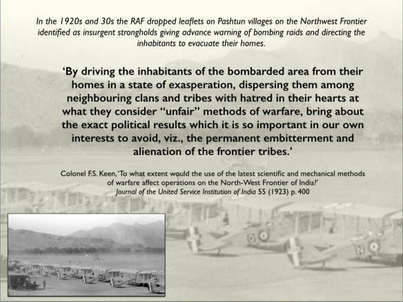 Waziristan bombing 1920s and 30s PNG