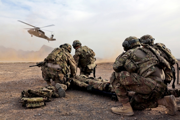 PRT Farah Conducts Medical Evacuation Training with Charlie Co., 2-211th Aviation Regiment at Forward Operating Base Farah