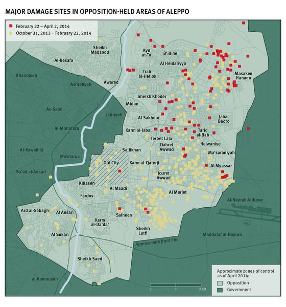 Aleppo Barrel Bombs (Human Rights Watch)