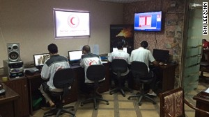 Ambulance control centre central Gaza