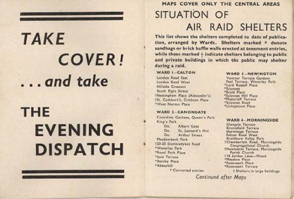 Guide to Edinburgh Air Raid Shelters WW2
