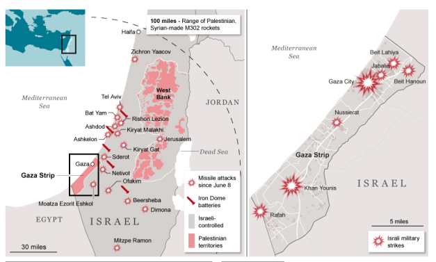 IDF and Hamas air strikes 2014
