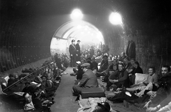 London air raid shelter