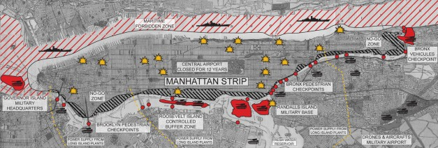 Manhattan Strip - Map by Leopold Lambert