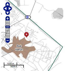 B'Tselem map Beit Hanoun