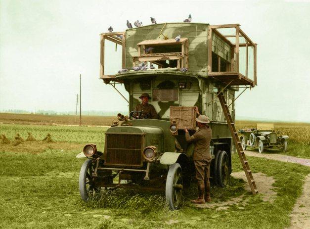 WWI Mobile carrier pigeon-loft