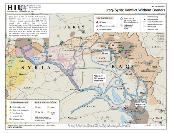 DoS Iraq Syria Conflict June 2014