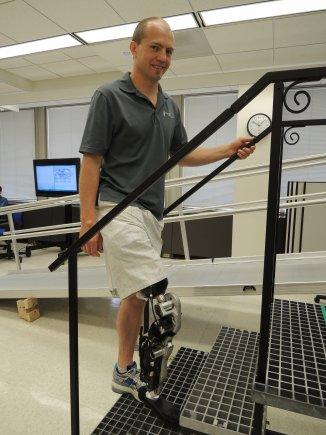 Zac Vawter at the Rehabilitation Institute of Chicago