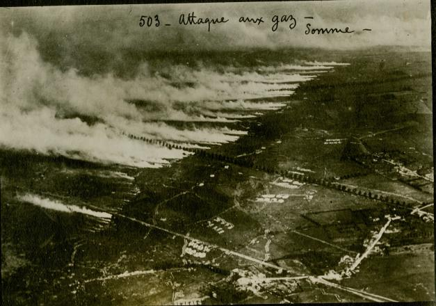 Gas attack Somme