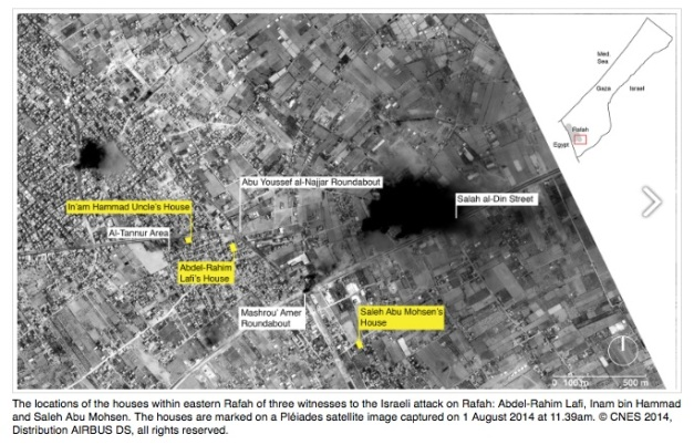 Satellite imagery Rafah 1 August 2014