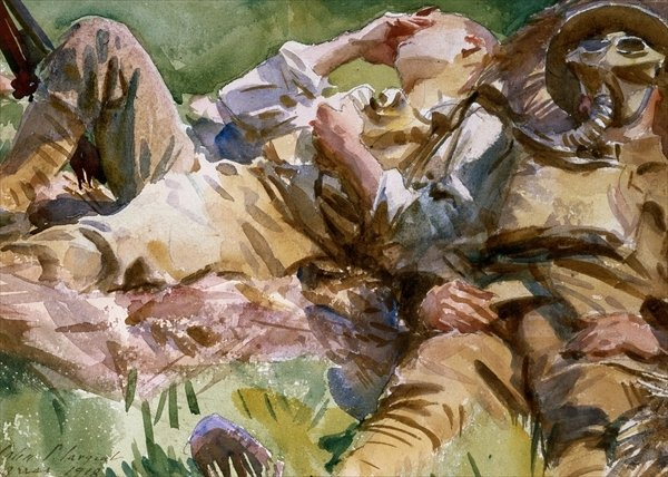 SARGENT Two soldiers at Arras