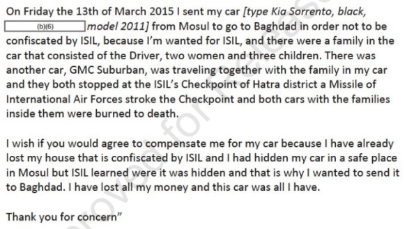 e-mail translation Al Hatra CIVCAS