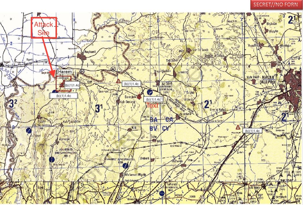 Harim Air Strike MAP annotated