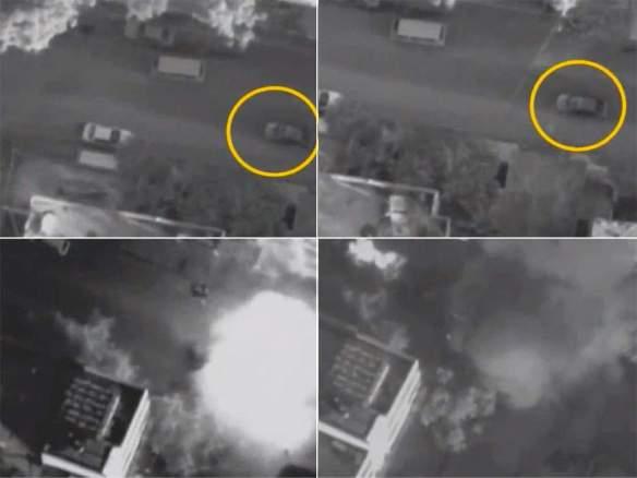 Drone feed Gaza city November 2012
