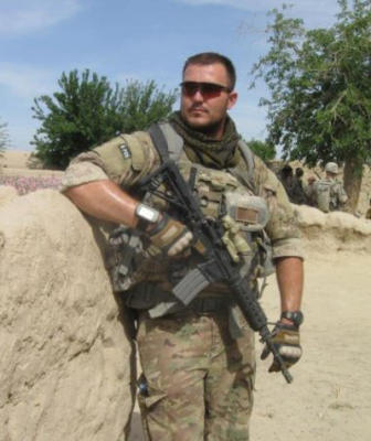 U.S. Air Force Sgt. Daniel Fye serving on a tour in the Kandahar province of Afghanistan in April 2011. (Courtesy of Daniel Fye)