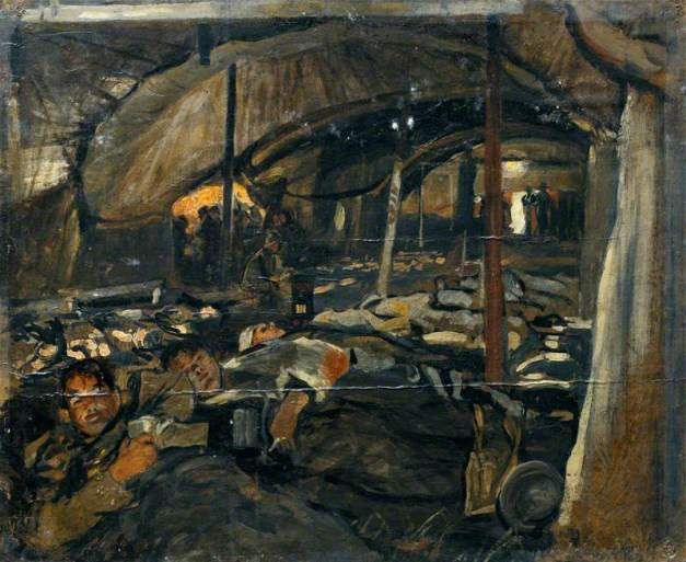LOBLEY Reception of wounded at 1st CCS, Le Chateau October 1918