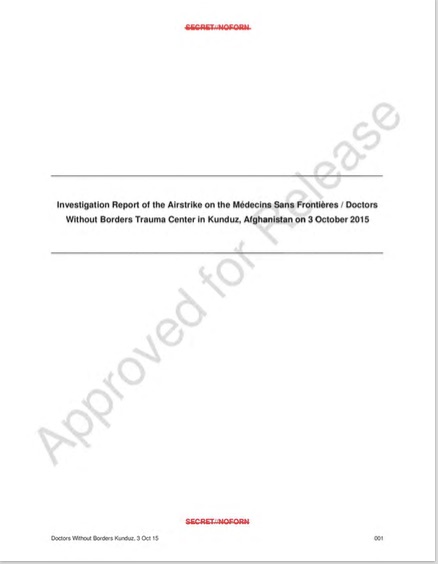 Kunduz MSF report cover JPEG